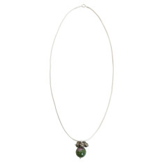 Green ruby zoisite chain