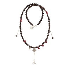 Smoky quartz tassel necklace