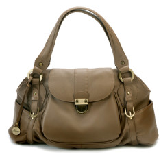 Kate flapover bag in latte