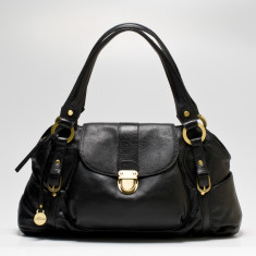Kate flapover bag in black