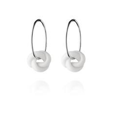 Knots silver hoop earrings by Anne Black