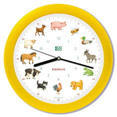 My little farm kids wall clock by KooKoo