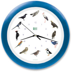 Exotic European birds wall clock by KooKoo