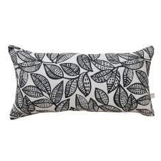 Ku-ring-gai long cushion cover in black on natural