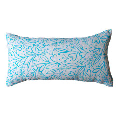 Summer lovin' cushion cover in turquoise on natural