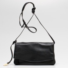 Mollie small flapover bag in black