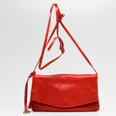 Mollie small flapover bag in red