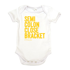 Smiley face organic cotton baby onesie