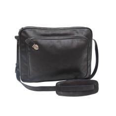 Marlon black leather bag