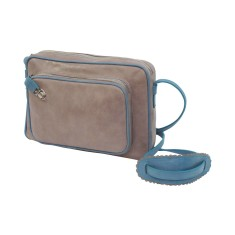 Retro marlon bag in grey and blue