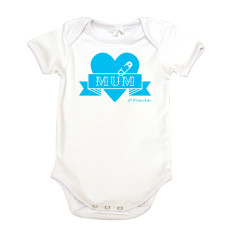 Love Mum organic cotton baby onesie