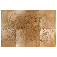 Punto loco lasered cowhide rug