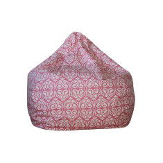 Pink damask bean bag cover
