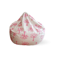 Pink orchard bean bag cover