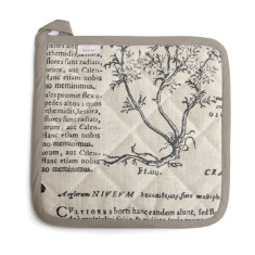 Potholder, Latin Herbal, (black)