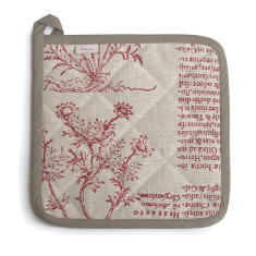 Potholder, Latin Herbal, (red)