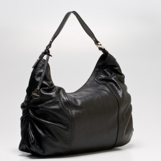 Rosie large leather Hobo in black