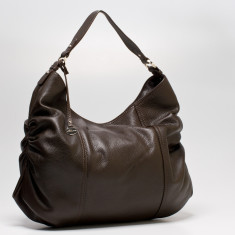 Rosie large leather Hobo in chocolate