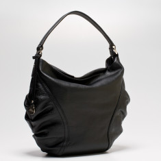 Rosie small leather Hobo in black