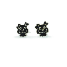 a small world Stud Earrings - Pups