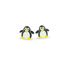 a small world Stud Earrings - Penguins