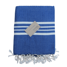Turkish beach towel in Royal blue