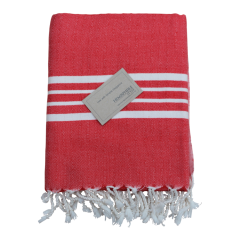 Turkish beach towel in red