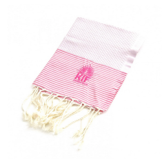 Maison hand towel in pink