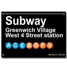 NYC Subway print - Greenwich Village