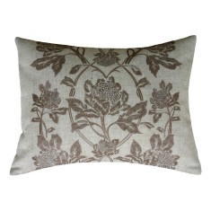 Waratah in tobacco embroidered cushion