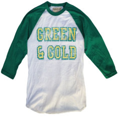 Green and Gold Raglan Sleeve