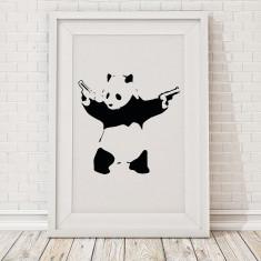 Banksy panda print
