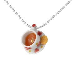 Loveheart teacup necklace