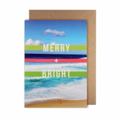 Merry + bright Christmas greeting cards (pack of 5)