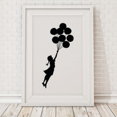 Banksy floating balloon girl print