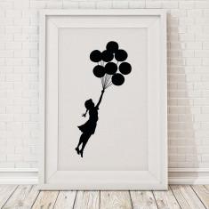 Banksy floating balloon girl print