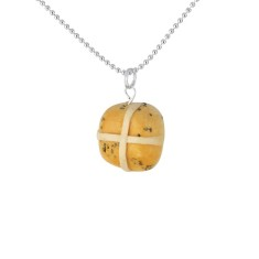 Hot cross bun necklace