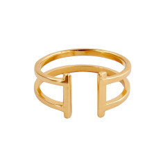 Double Bar Ring (Gold Vermeil)
