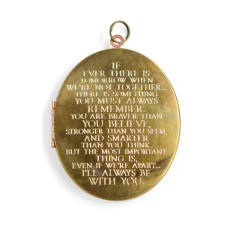 I'll always be with you... engraved oval locket