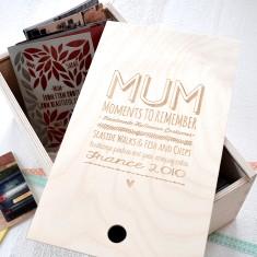 Mum personalised keepsake box
