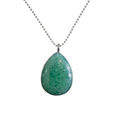 Seafoam sterling silver necklace