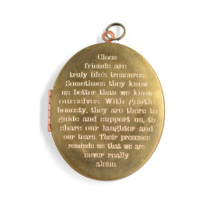 Close friends... engraved oval locket