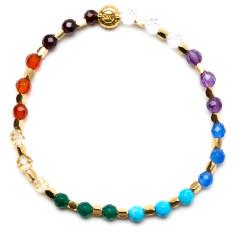 Signature bracelet in seven chakras