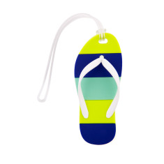 Flip flop bag tag in blue, pink or orange