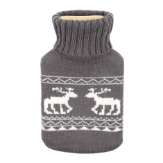 Deer hot water bottle in grey