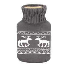 Deer hot water bottle in grey