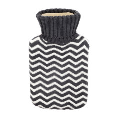 Hot water bottle in grey chevron