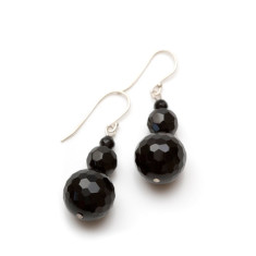 Audrey faceted graduating ball earrings