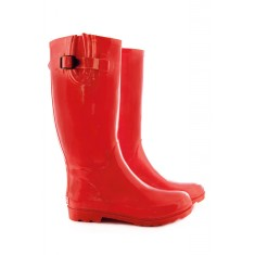 Tall wellies in red
