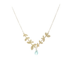 Nine leaf branches (gold)